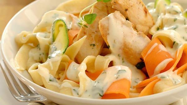 Kylling med fersk pasta