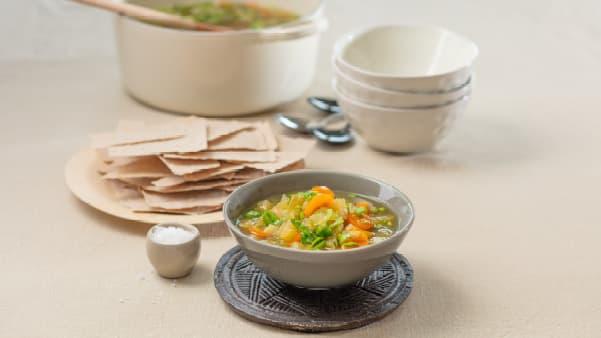 Høstsuppe med rotgrønnsaker