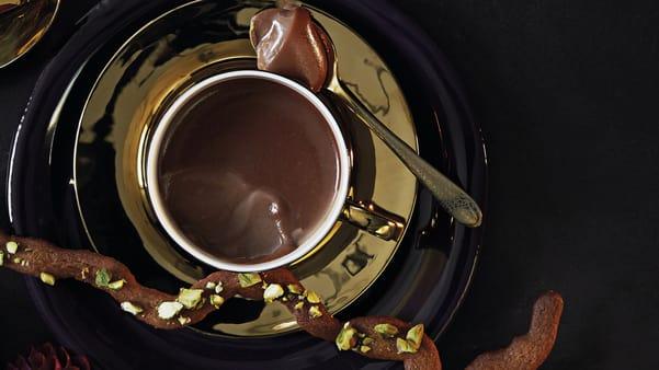 Sjokolade-pannacotta