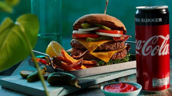 BBQ-burger med bacon