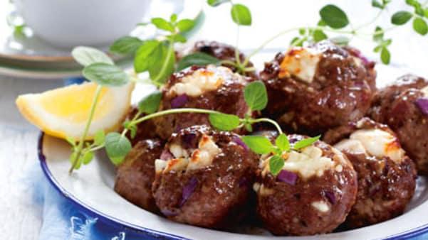 Sommerkjøttboller med tzatziki