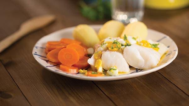 Torsk med eggesmør