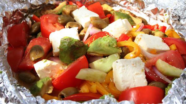 Grillet gresk salat