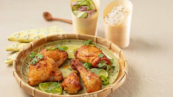 Kyllinglår med agurksalat