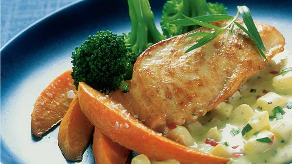 Kylling med ovnsbakt søtpotet