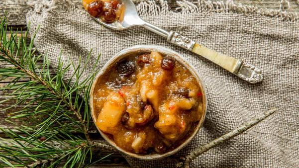 Eplechutney  med smak av jul