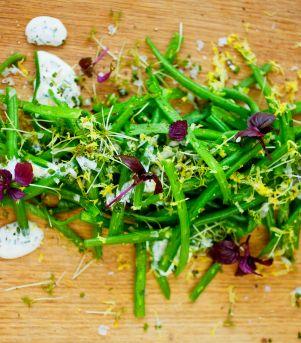 Aspargesbønnesalat med sitrondressing
