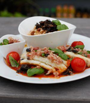 Stoccafisso med pancetta og sterk saus