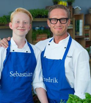 Far og sønn Sebastian Skauen Johnsen & Fredrik Johnsen