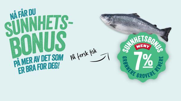 Sunnhetsbonus på fersk fisk