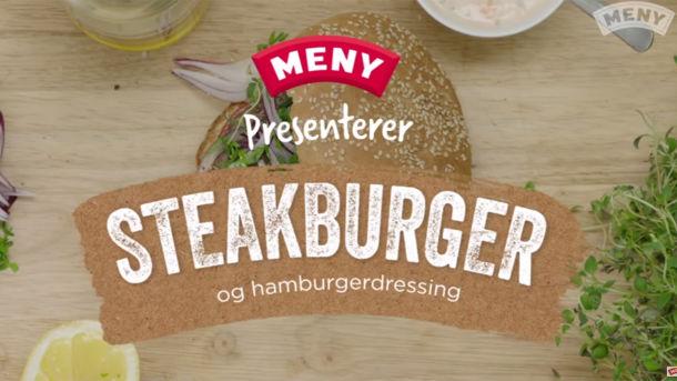 Slik lager du en saftig steak burger
