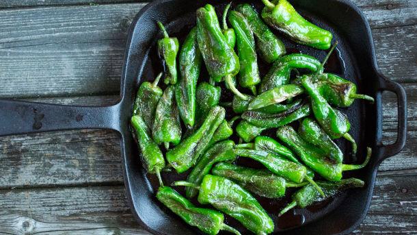 Stekte padrón peppers