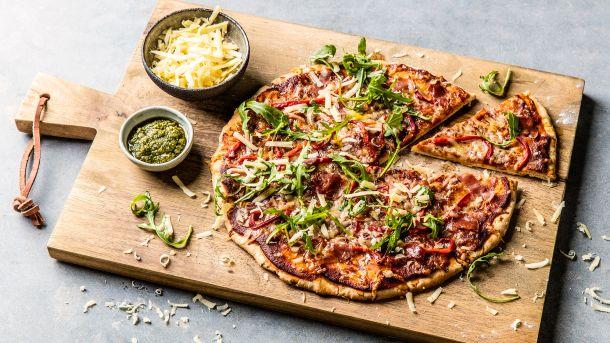Pizza med Pata Negra skinke
