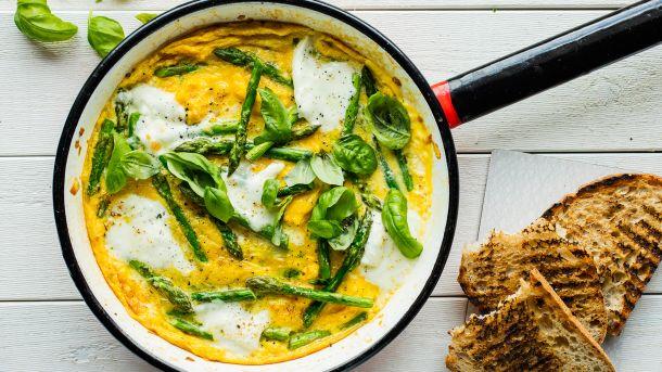 Omelett med asparges