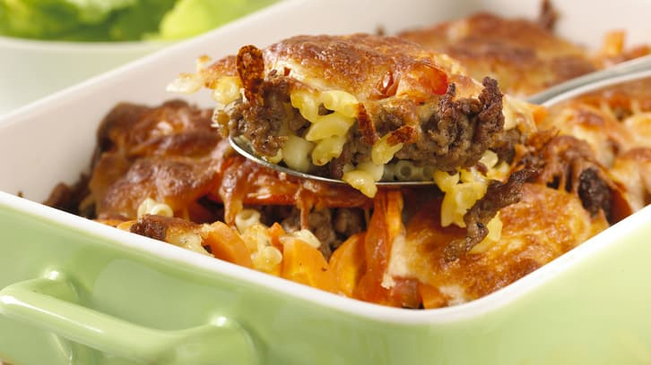Kjøttdeig- og makaroniform