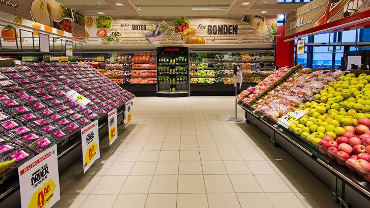 100 tonn mindre plast i frukt- og grøntavdelingen