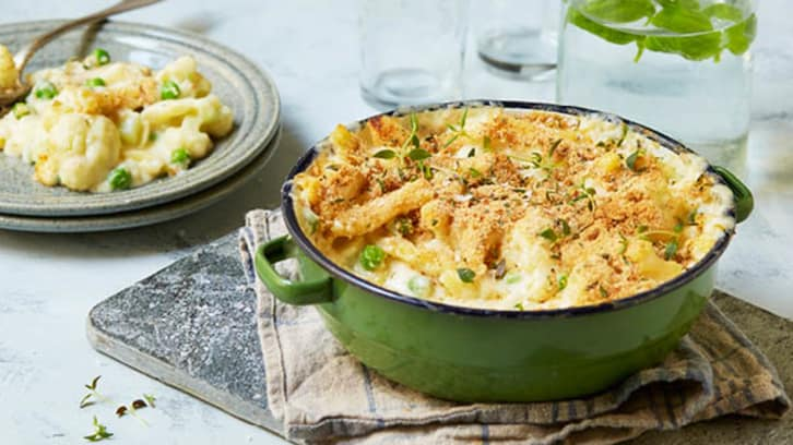 Mac 'n' cheese med blomkål