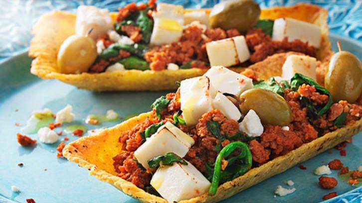 Vegetartubs med oliven og fetaost