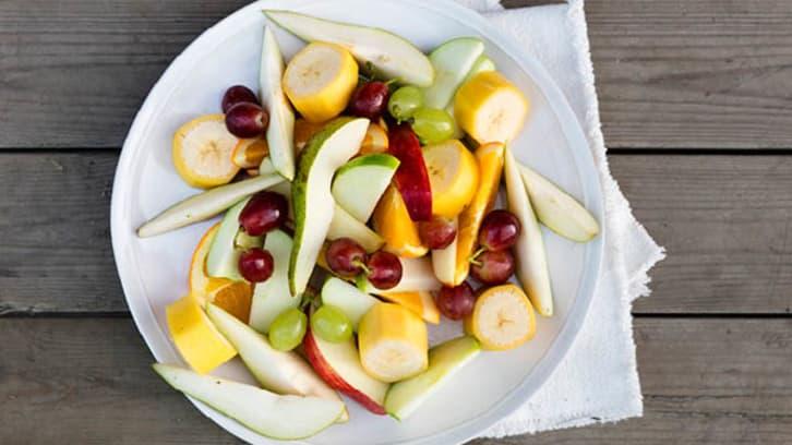 Fristende oppkuttet frukt/fruktsalat
