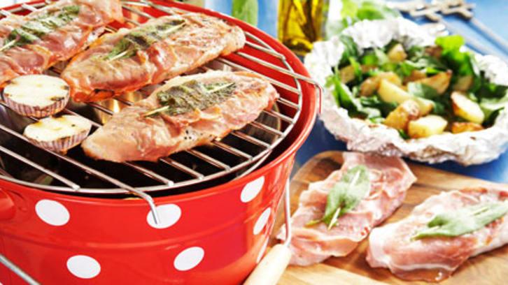Saltimbocca med parmesan- og spinatpoteter