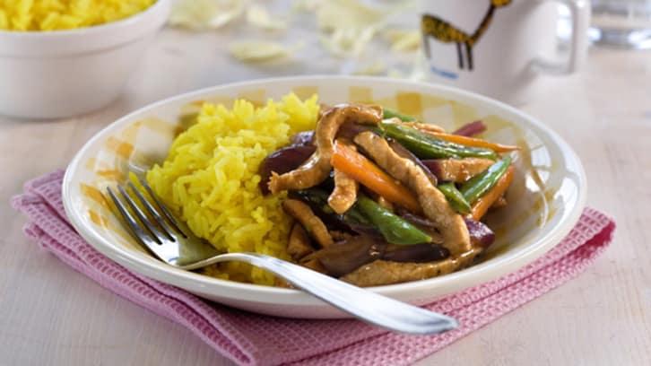 Rask wok med svinebiff