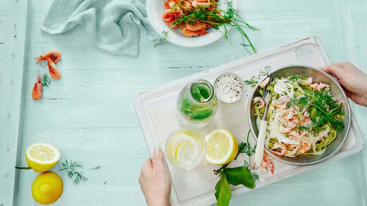 Seks middager med avokado