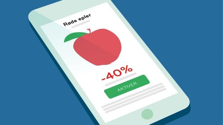 Personlige kuponger som gir 40% avslag