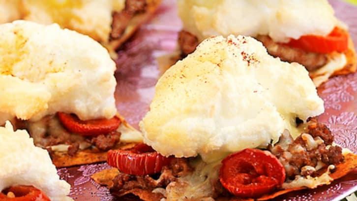 Tacosnacks med kjøttdeig, jalapeños og smak av hvitløk