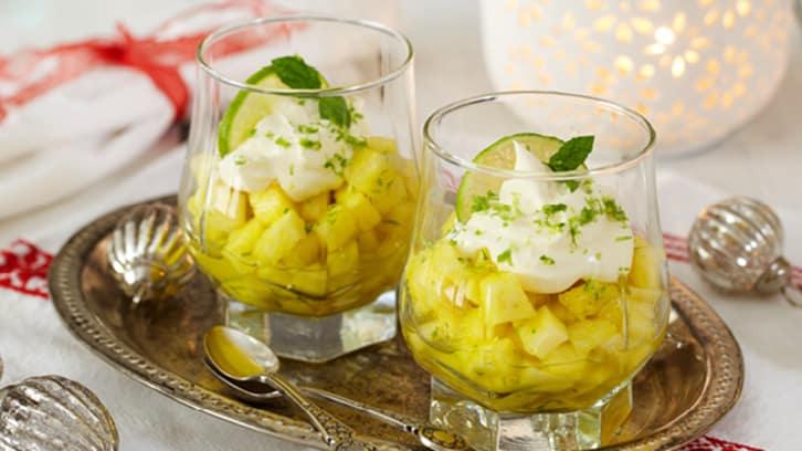 Limemarinert ananas
