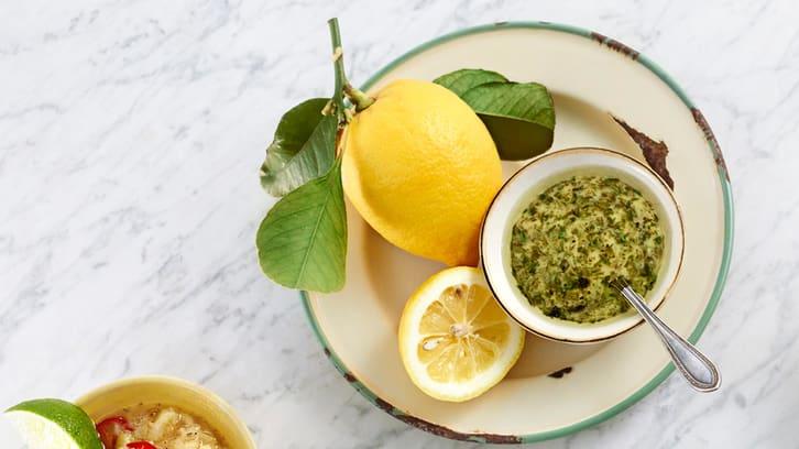Estragonvinagrette med sitron