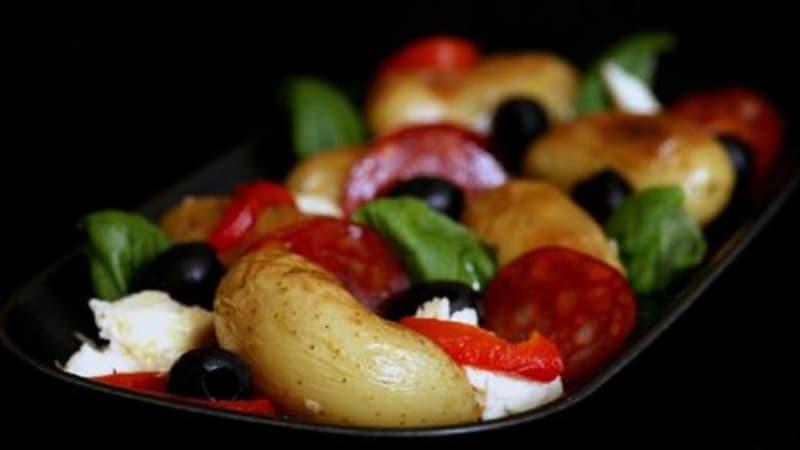 Fargerik potetsalat
