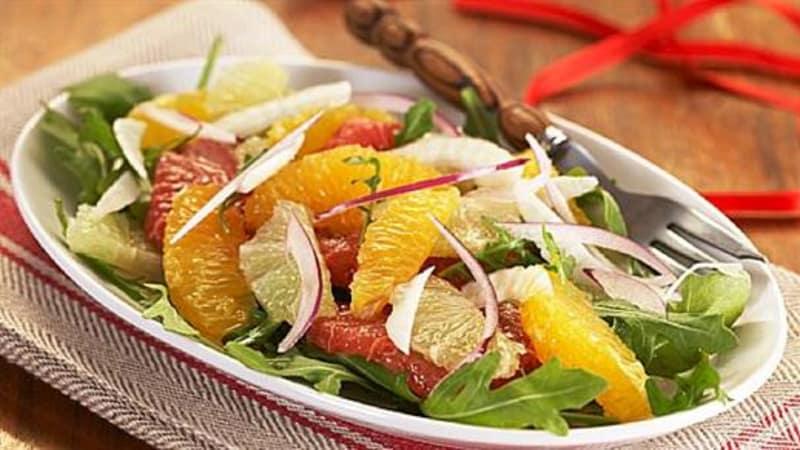 Appelsin- og grapefruktsalat