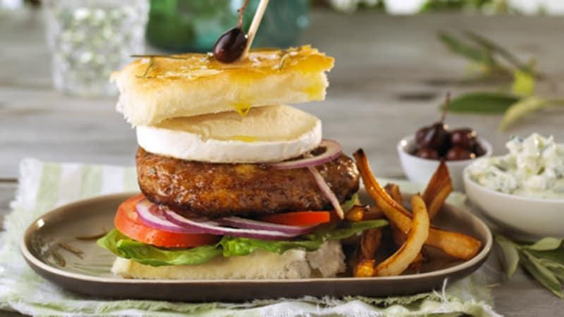 Gresk lammeburger med fritert pastinakk