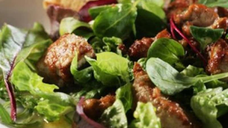 Salat med torskelever
