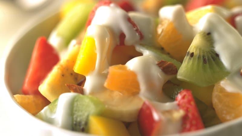 Fruktsalat med yoghurt