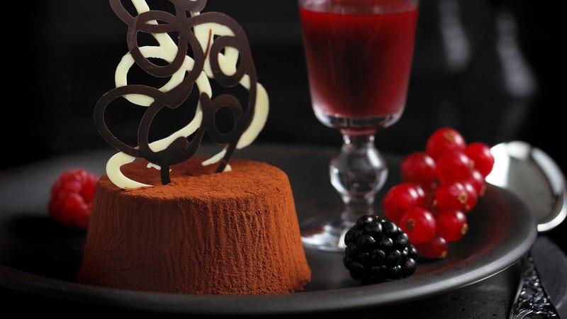 Sjokolade-panna cotta