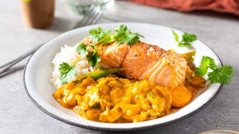 Red curry med ørret