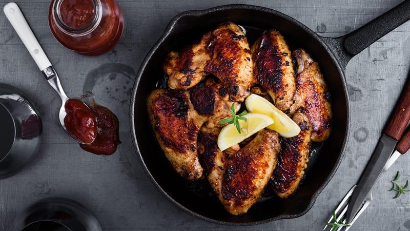 Kyllingvinger med grillsaus og tzatziki