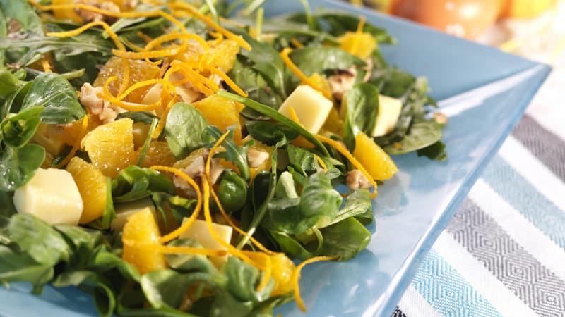 Appelsinsalat med ost