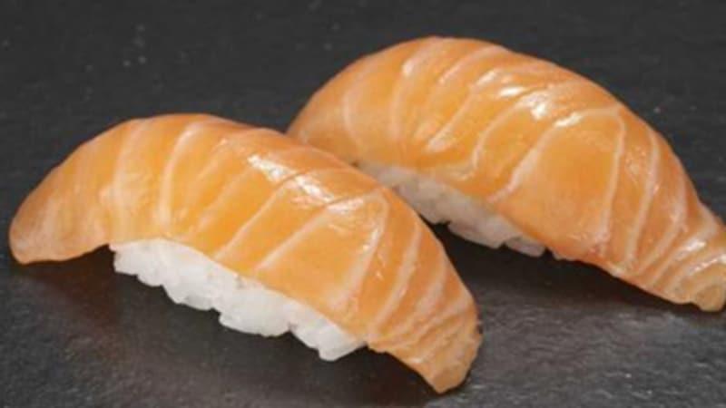 Nigiri-sushi med laks