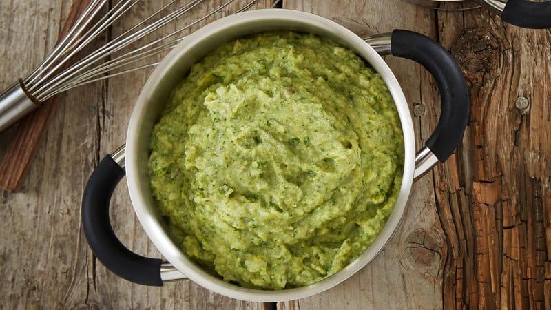 Potetmos med brokkoli