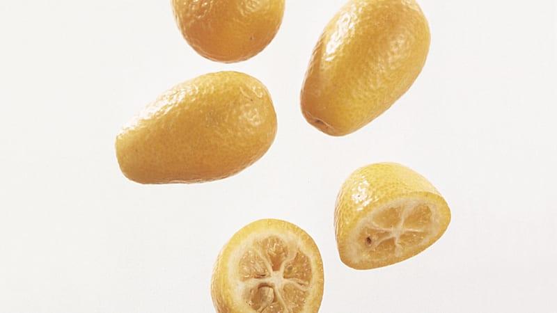 Epleis med appelsinsalat og kumquatmarmelade