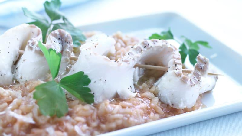 Torsk med risotto