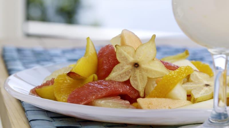Gul fruktsalat