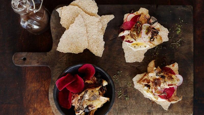 Lammebog med fungi og flatbrød