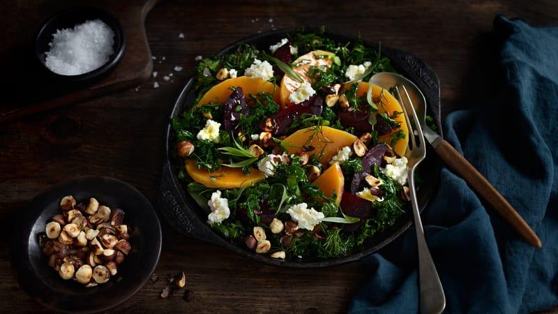 Høstsalat med pisket feta