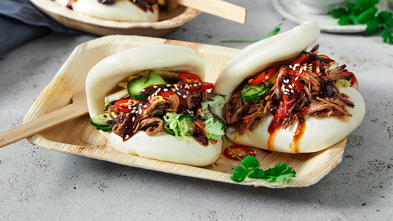Steam buns med pulled beef