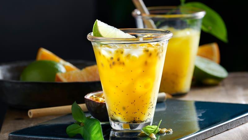 Alkoholfri tropisk cocktail