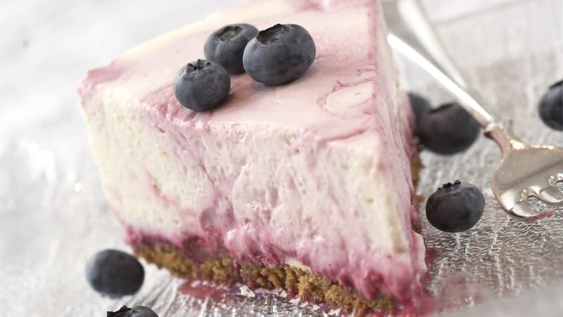 Blåbær- og limeostekake