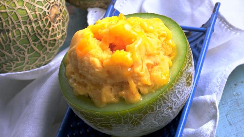 Melonsorbet
